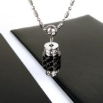 Man Roller 'Only You' Gemstone Titianium Steel Pendant
