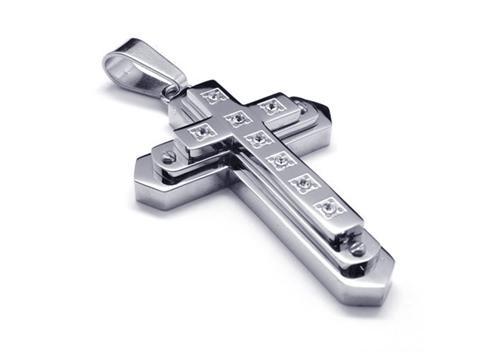 Men silver pure titanium cross necklace pendant chain 15767 93 men silver pure titanium cross necklace pendant chain mozeypictures Choice Image