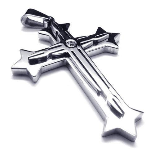 Mens silver pure titanium cross pendant necklace new 17692 91 mens silver pure titanium cross pendant necklace new aloadofball Images