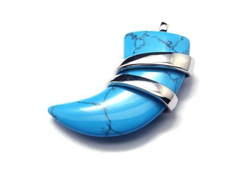 Mens pure titanium turquoise spear pendant necklace 17556 94 mens pure titanium turquoise spear pendant necklace aloadofball Image collections