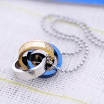 Fashion Gifts For your Friend Titanium interlocking circle Pendant