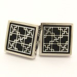 Titanium and Black IP Plated Square Cufflinks C-1002