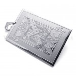 Silvery Playing Card Titanium Pendant(J) 20144