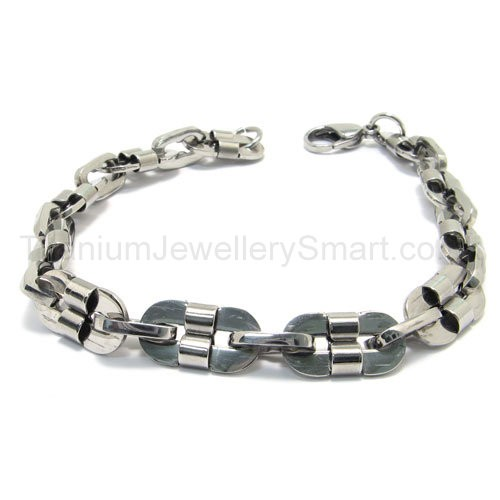 titanium slice link s bracelet 15300 163 91 titanium