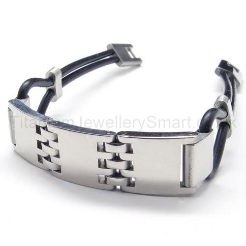 Mens Slingshot Titanium And Rubber Bracelet 17202 89 Titanium