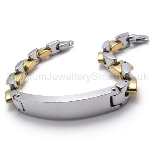 fashion mens titanium id bracelet 20026 163 97 titanium