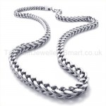 Curb Mens Titanium Necklace 19424