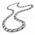Oval Rings Link Titanium Necklace 19547