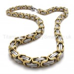 Gold Two Layer Mens Titanium Necklace 19975