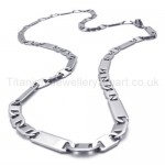 Mens Sheets Link Titanium Necklace 20020