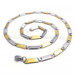Womens Gold Sheets Link Titanium Necklace 20022