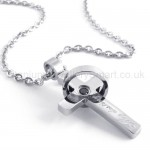 Womens Titanium With Ring Cross Pendant Necklace 20131