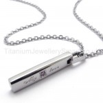 Womens Titanium With Diamond Love Pendant Necklace 20134