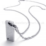 Womens Titanium Cute Patterns Pendant Necklace 20135