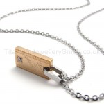 Womens Titanium Gold Pendant Necklace 20136