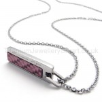 Womens Titanium Purple Pendant Necklace 20137
