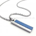 Womens Titanium Blue Pendant Necklace 20138