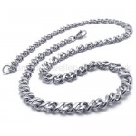 Silver Curb Titanium Necklace 20212