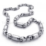 Siver Robot Hands Link Titanium Necklace 20278