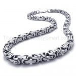 Two-layer Link Mens Titanium Necklace 20288