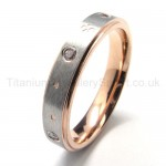 Diamonds Titanium Ring 16205