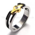 Diamond Titanium Ring 18436