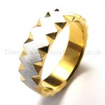 Golden Titanium Ring 18439