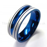 Blue Pure Titanium Ring 18443