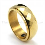 Golden Rotatable Titanium Ring 19222