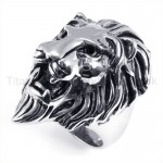 Classical Lion Head Titanium Ring 19245