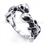 Classical skeletons Titanium Ring 19251