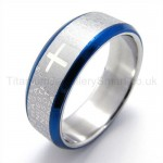 Cross Blue Titanium Ring 19270