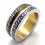 Golden Groove Titanium Ring 19273