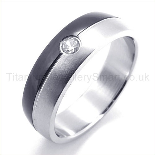 Home gt titanium rings gt diamond titanium ring 19282