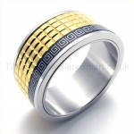 Anaglyph Golden Titanium Ring  19292
