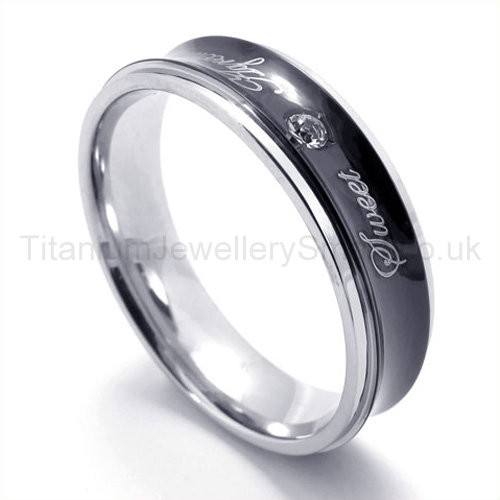 Home gt titanium rings gt diamond titanium ring 19307