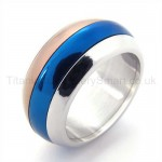 Three Colored Titanium Ring 19329