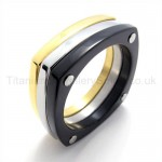 Three Colored Titanium Ring 19421