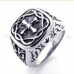 Decorated with the Cross Titanium Ring 19492