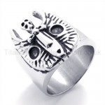 Classical mask Titanium Ring 19588
