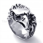 Classical Eagle Head Titanium Ring 19590