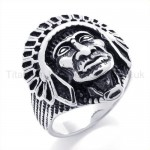 Pharaoh's Head Titanium Ring 19591