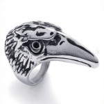 Classical Hawk Head Titanium Ring 19846
