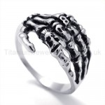 Classical Skeleton PAWS Titanium Ring 19847