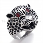 Leopard Head Titanium Ring 19850