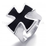 Black Cross Titanium Ring 19941