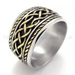 Alternating Texture Titanium Ring 20006