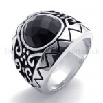 Black Zircon Titanium Ring 20140