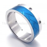 Blue Diamond Titanium Ring 20141