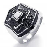 Classical Shield Titanium Ring 20204